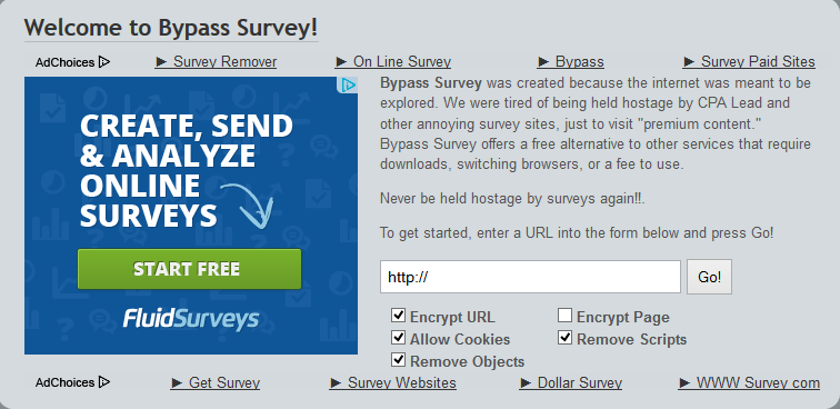 Bypass Online Surveys