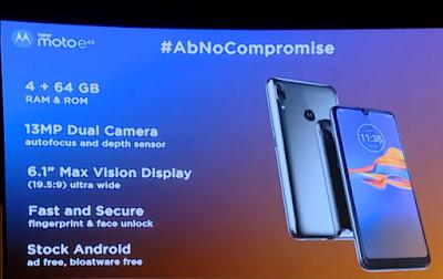 Moto E6s Features