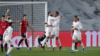 ملخص واهداف مباراة ريال مدريد واوساسونا (2-0) الدوري الاسباني