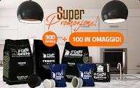 Logo Cialde e Capsule Caffè compatibili Nespresso, A Modo Mio, Dolce Gusto e non solo: 300 + 100 in omaggio