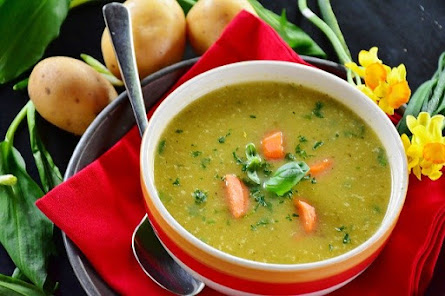 Carrot Soup and Vegetables