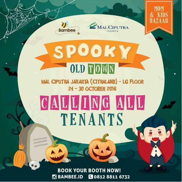 Thematic Family Event SPOOKY OLD TOWN Mom & Kids bazaar