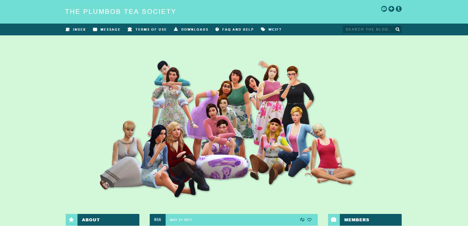 Sims 4 CC-Creators - The Best: THE PLUMBOB TEA SOCIETY ...