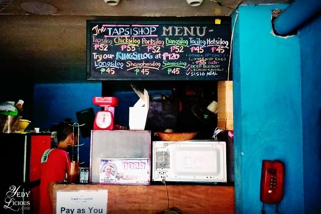 The TapsiShop Binangonan MENU