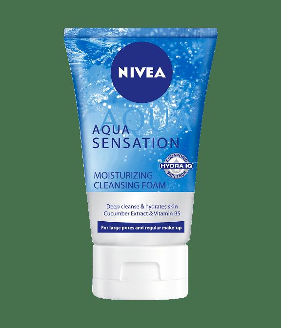 Pencuci muka Nivea Aqua sensation cleansing foam.