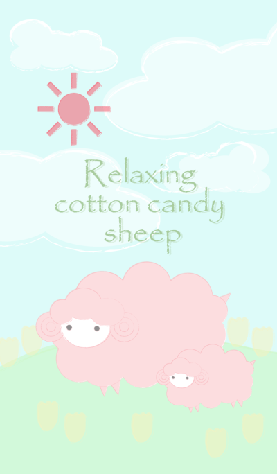 Relaxing cotton candy sheep