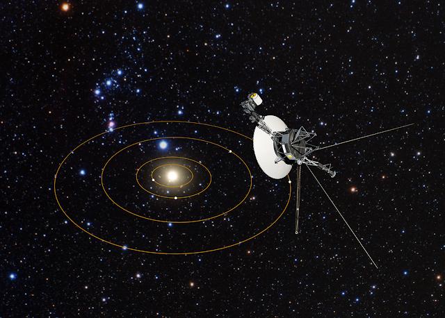 Voyager 1 viajando no espaço, segundo a NASA