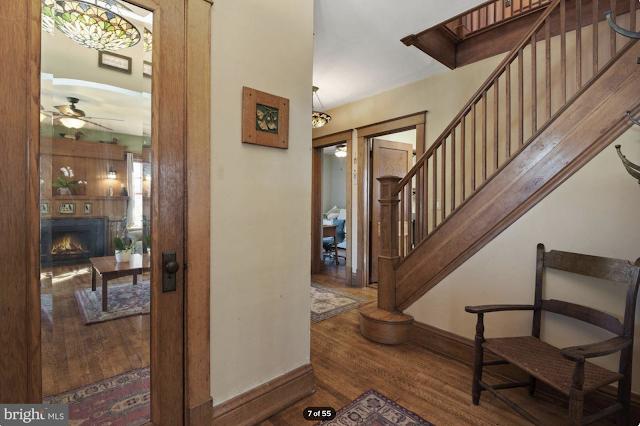 color photo of hallway closet stairs Sears Kilbourne 4219 Nicholson Street, Hyattsville, Maryland