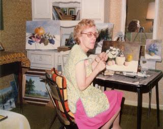 Madame St-Laurent dans son studio à Mississauga, Ontario