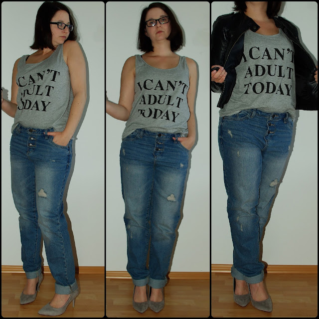 [Fashion] I Can´t Adult Today! Boyfriend Jeans & Print Shirt