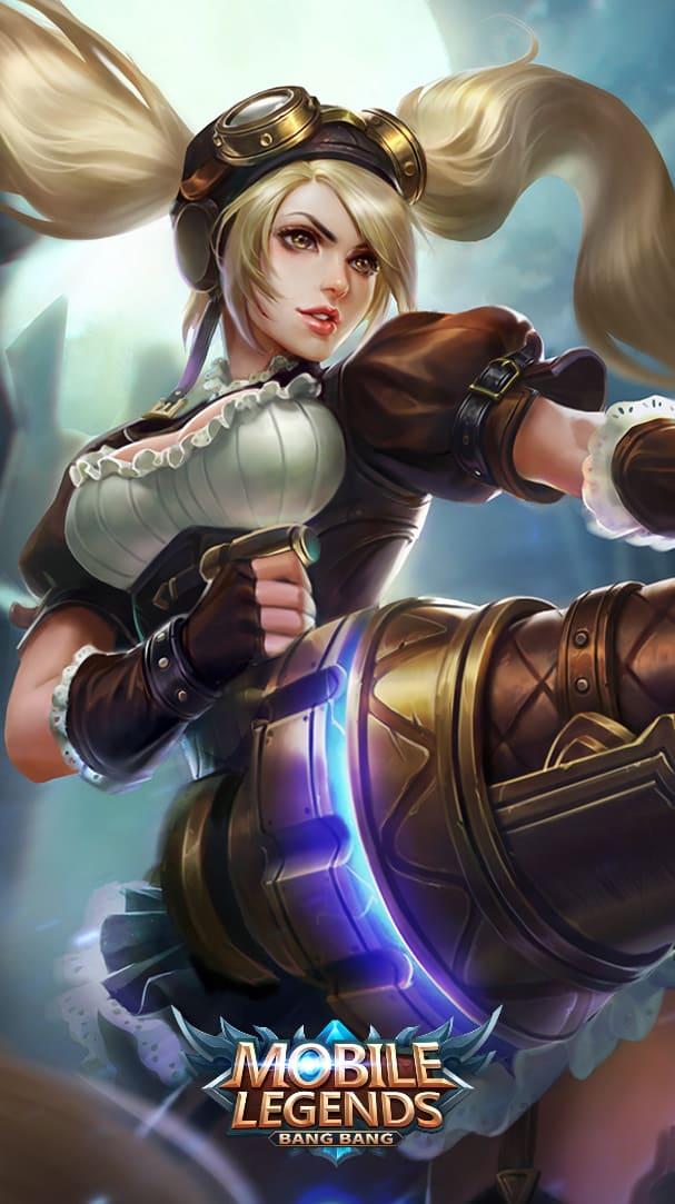Wallpaper Layla Malefic Gunner Skin Mobile Legends HD for Mobile