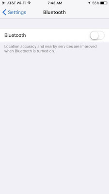 Nonaktifkan Bluetooth iPhone