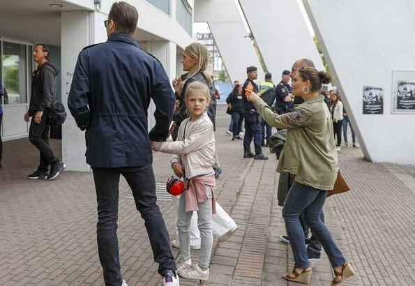 Crown Princess Victoria, Prince Daniel and Princess Estelle attended the concert of the famous band Metallica