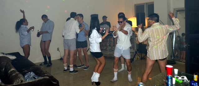 Risky business party theme for guys