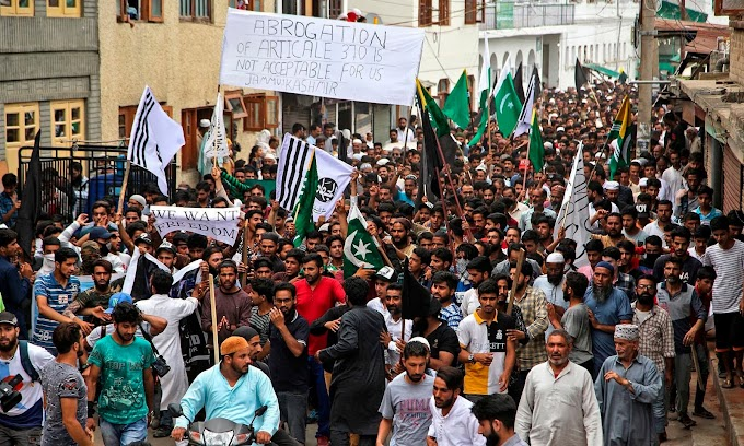 Women convey to the streets against abrogation of article 370 in IoK, thousands declare