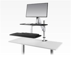 Sit To Stand Attachable Desk by ESI