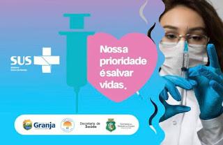 Mutirão : Granja vacina população de 45 a 59 anos neste sábado