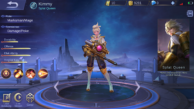 Build Item Kimmy Mobile Legends: Mage Marksman Pertama! - Mario Bd