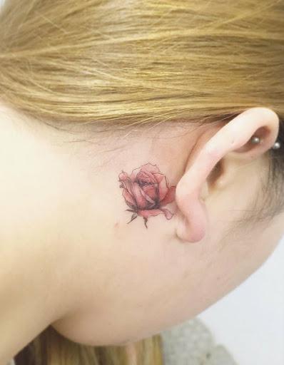 Este atrás da orelha rosa