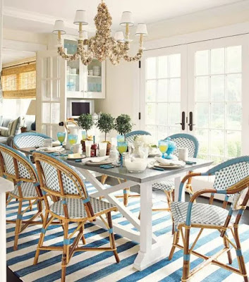 Rug can be great decoration for dining room