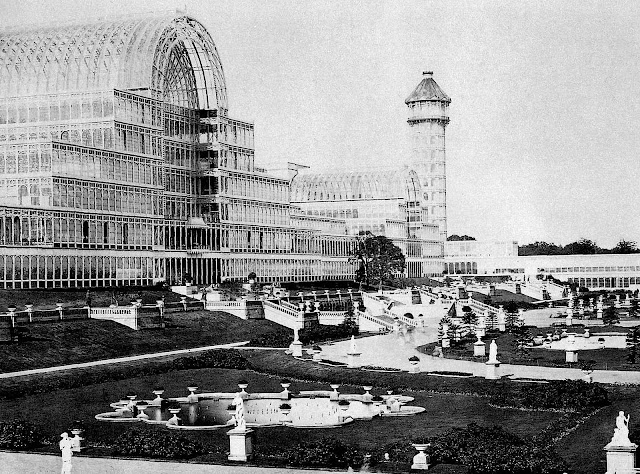 a photograph of the 1851 Crystal Palace