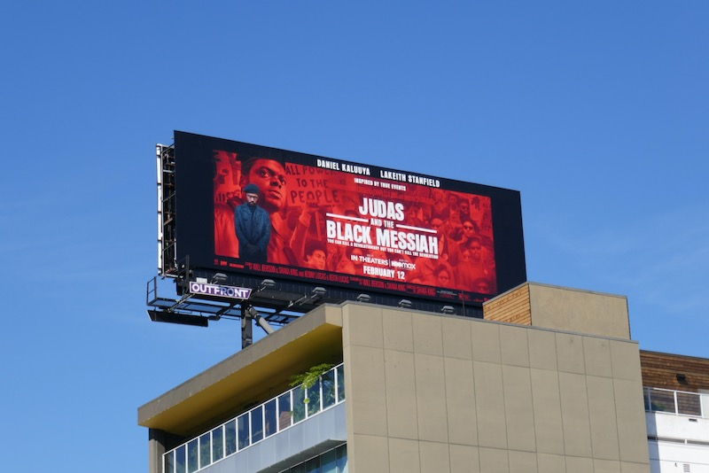 Judas and Black Messiah film billboard