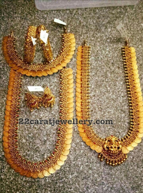Kasu Necklace and Long Sets with Bangles