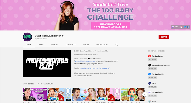 buzzfeed mutlriplayer, 100 baby Challenge, the sims 4, kelsey impicciche, gamer channels on Youtube