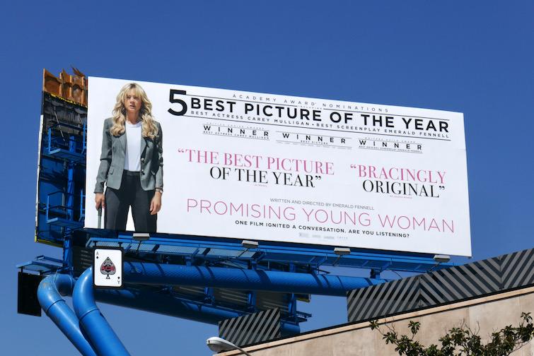Promising Young Woman Oscar nominee billboard