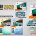 Desain Kalender Dinding 2020 Format 4 Bulanan dengan Photoshop