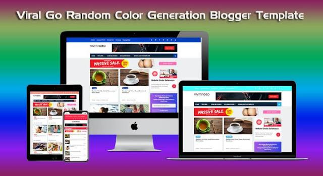 New Viral Go Random Color Generation Blogger Template