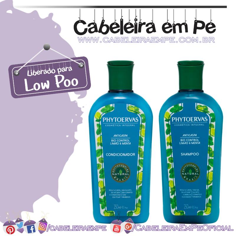 Shampoo e Condicionador Anticaspa Limão e Menta - Phytoervas (Low Poo)