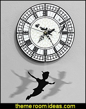 Peter Pan Swinging on the Big Ben - Pendulum Wall Clock