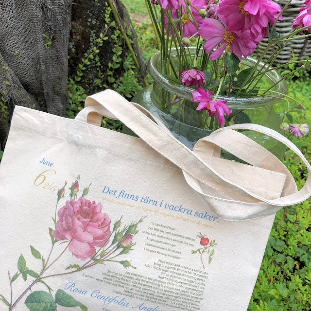 soft pink rose canvas tote bag regular is very useful for also gardening too. White interior, shabby chic ... just put it casually and it will look great in any interior style.