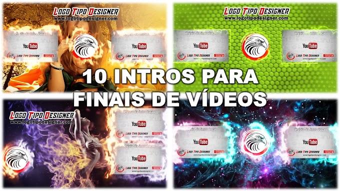 PACOTE DE 10 INTROS CROMA KEY #01 PARA FINAIS DE VÍDEO (TEMPLANTE FINAL) TELA FINAL - Uso livre Free use
