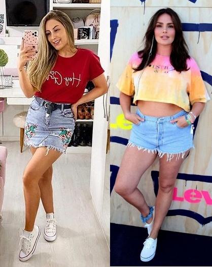 Looks inspiração com t-shirt, Joana Paladini, Candice Huffine