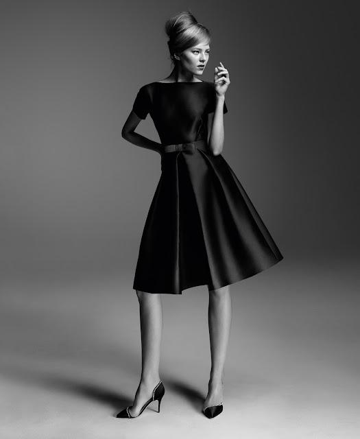 vestido preto decada 40