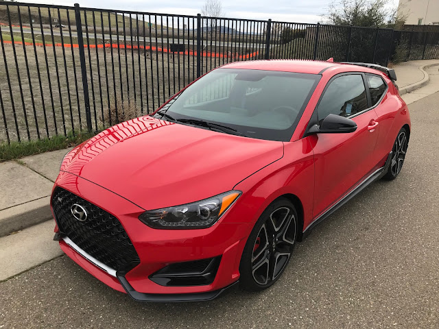 Front 3/4 view of 2020 Hyundai Veloster N