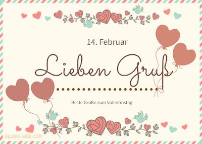 14. Februar Valentinstag gruss