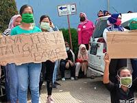 Aksi Demo Buruh Pabrik, Menuntut Hak Gajinya Segera Dibayar