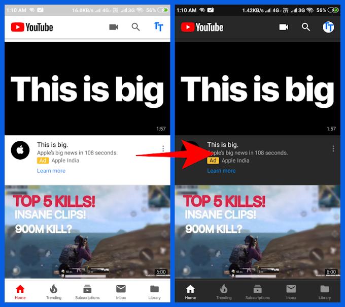 Enable dark mode on YouTube, Mobile and Desktop | tiktoktech