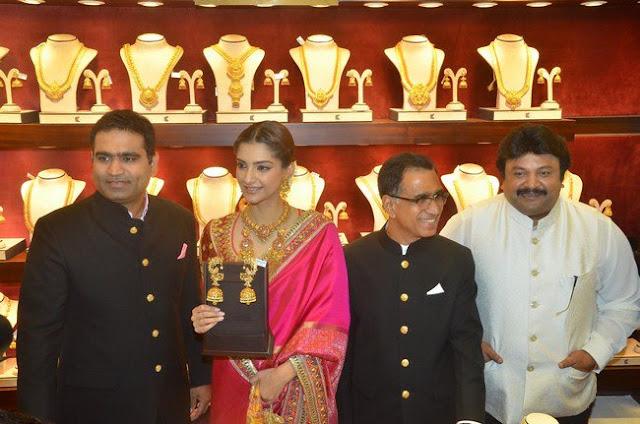 Sonam Kapoor Stills at Kalyan Jewellers Inaguration