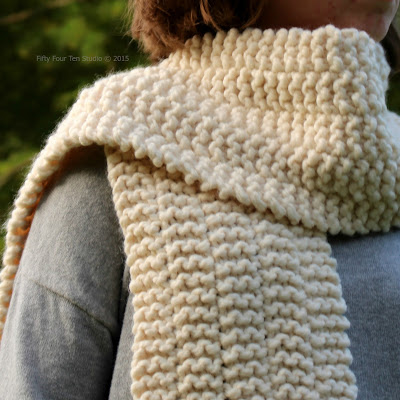 Fifty Four Ten Studio: New Easy Scarf Knitting Pattern - Side Line Scarf