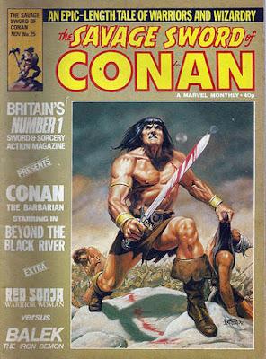 Marvel UK Savage Sword of Conan #25