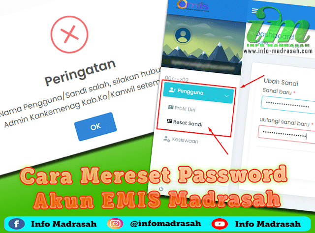 Cara Mereset Password Akun EMIS Madrasah
