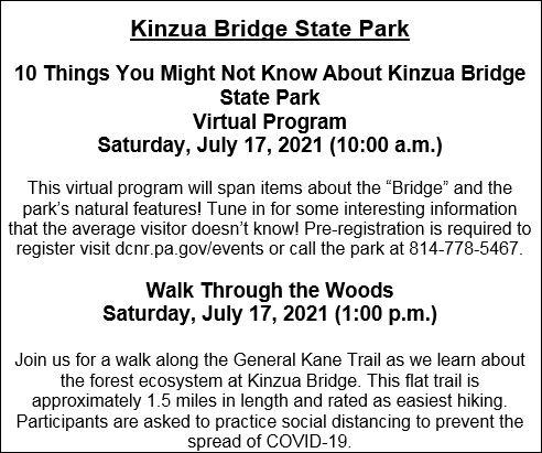 7-17 Kinzua Bridge State Park Events