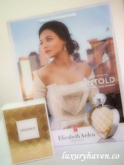 elizabeth arden untold fragrance blogger review