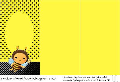 Abelhinha Kit Completo Com Molduras Para Convites Rótulos Para