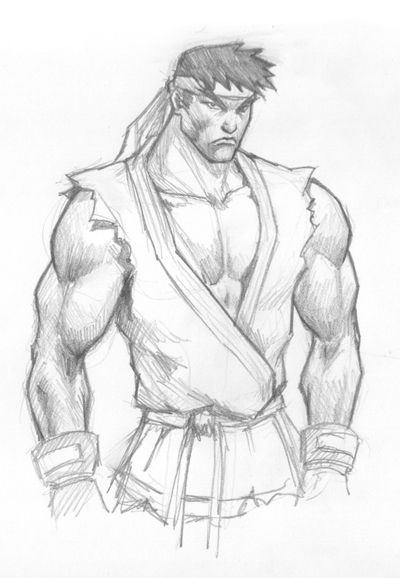 How to draw Ryu from Street Fighter