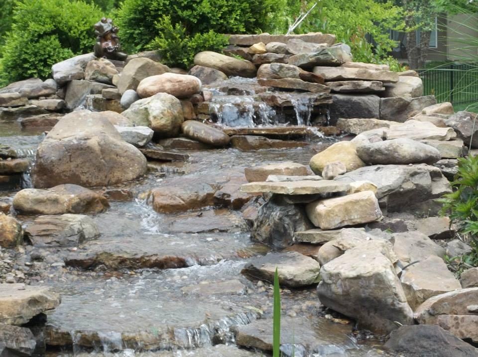 Water features repair company nebraska 816 500 4198 for Front garden features